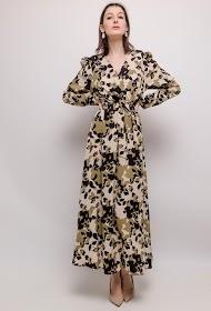 FLAM MODE long printed dress