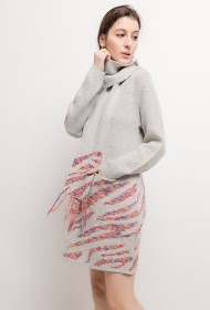 FOR HER PARIS printed knit dress