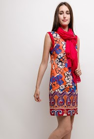FOR HER PARIS printed dress suzanne
