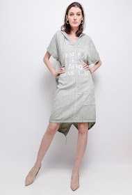FOR HER PARIS linen / cotton dress with hood