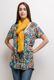 FOR HER PARIS printed large size tunic talia