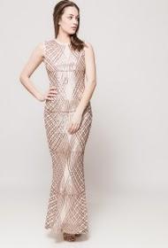 FP&CO vestido longo de lantejoulas