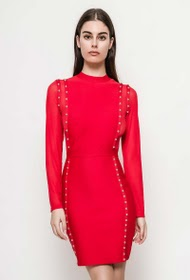 FP&CO bodycon dress with studs