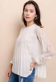 FRIME pleated blouse