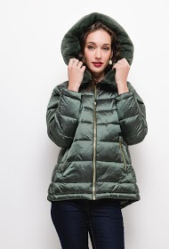 FRIME down jacket with a stuffed collar