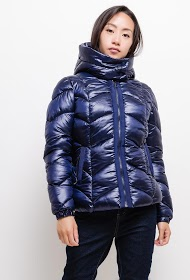 FRIME down jacket with fur lining