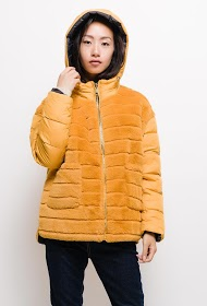 FRIME down jacket with reversible fur