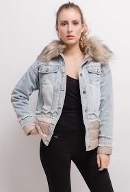 FRIME casaco bi-material