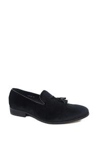GALAX velvet tassel loafers