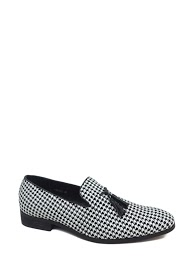 GALAX printed tassel loafers