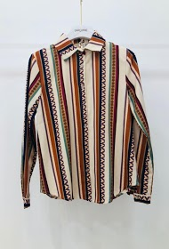 GARÇONNE shirts with vertical patterns
