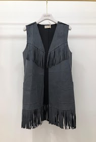 GARÇONNE sleeveless bib cardigan