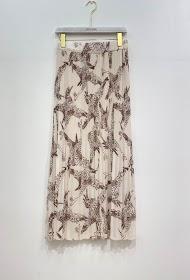 GARçONNE long pleated printed skirt