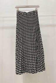 GARÇONNE pleated and printed skirt