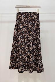 GARÇONNE printed satin skirt