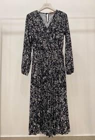 GARÇONNE long printed v-neck dress