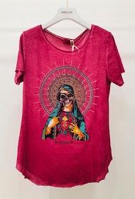 GARÇONNE long sleeve printed t-shirt with round neck