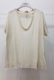 GARÇONNE v-neck short sleeve uni t-shirt