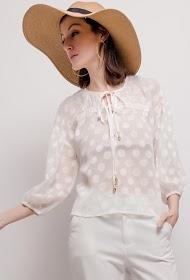 GD GOLDEN DAYS polka dot blouse