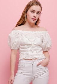 GD GOLDEN DAYS english embroidery blouse