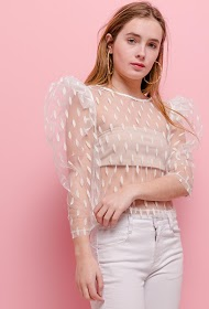 GD GOLDEN DAYS transparent blouse