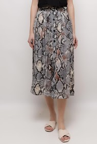 GD GOLDEN DAYS midi skirt with python print