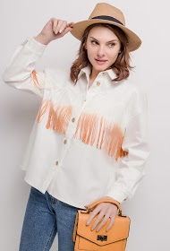 GG LUXE jacket with fringes