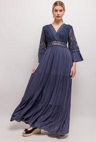 GG LUXE robe longue en dentelle