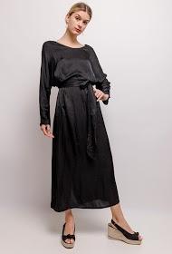 GG LUXE robe longue satinée