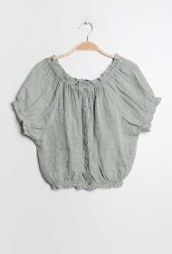 GG LUXE blouse on linen