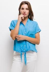 GG LUXE bi-materiale strikket shirt