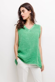 GG LUXE linen and cotton tank top