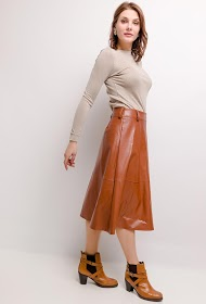 GG LUXE leatherette midi skirt