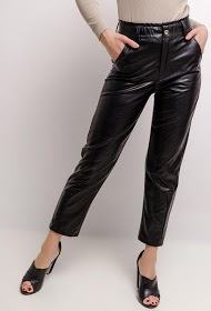 GG LUXE faux leather pants