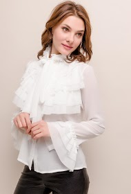 GG LUXE ruffled shirt