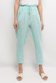 GG LUXE linen trousers