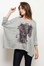 GG LUXE jumper with elephant print