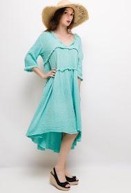 GG LUXE uitlopende jurk met franjes
