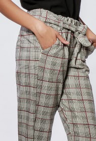 GOA check pants with belt
