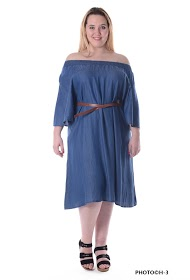 H3 dress in jeans large size