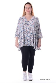 H3 printed tunic with v-size big size