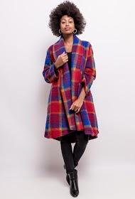 HAPPY LOOK wool check coat