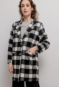 HAPPY LOOK check coat