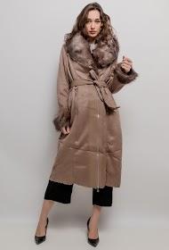 HAPPY LOOK suede effect coat