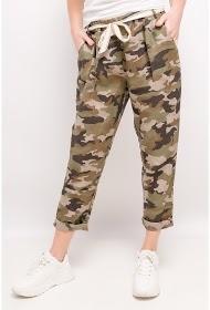 HAPPY LOOK pantalones de lino