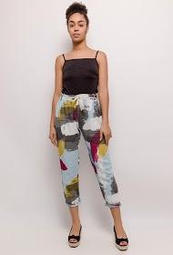 HAPPY LOOK printed linen pants