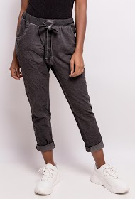 HAPPY LOOK pants with side bands
