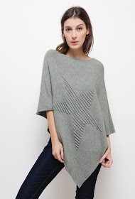 HAPPY LOOK knitted poncho