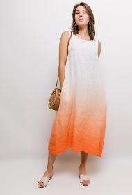 HAPPY LOOK long linen dress
