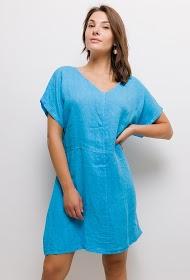 HAPPY LOOK loose linen dress